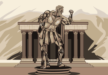 Illustration of Hercules Statue - vector gratuit #427557