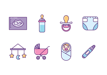 Baby and Maternity Icons - Kostenloses vector #427587