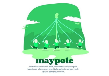 Maypole Background - vector gratuit #427627