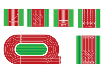 Red Running Track Vectors - vector #427657 gratis