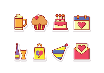 Festival Icon Set - vector #427767 gratis