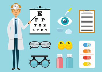 Eye Doctor and Toosl Vectors - vector gratuit #427777