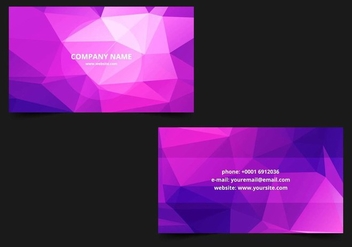 Free Vector Polygonal Business card Template - vector gratuit #428047