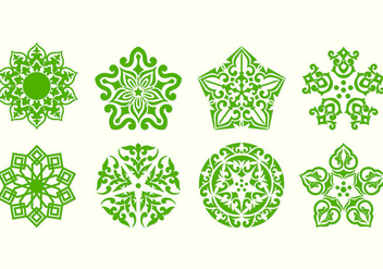 Islamic Ornament Vectors - бесплатный vector #428077