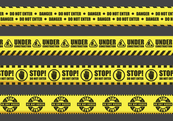 Warning Tape Vector Signs - бесплатный vector #428087