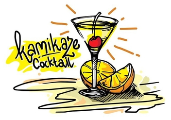 Kamikaze Cocktail Tropical Vector - Kostenloses vector #428127