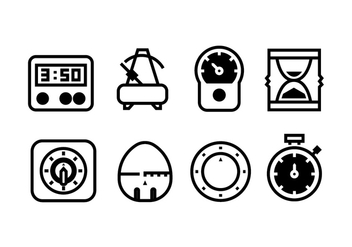 Timer Tool Icon Vectors - Free vector #428157