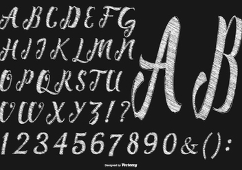 Sketchy Hand Drawn Alphabet Collection - vector #428167 gratis