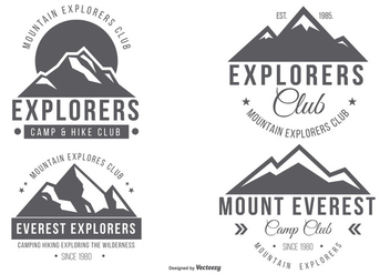 Mountian Explorer Logo Collection - vector gratuit #428177