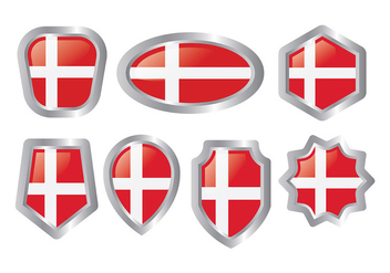 Free Danish Flag Icons Vector - бесплатный vector #428207