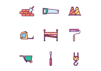 Construction Icons - vector #428227 gratis