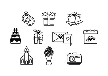 Free Wedding Icon Vector - vector gratuit #428247