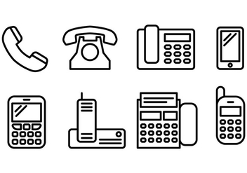 Free Tel Icons Vector - Free vector #428257