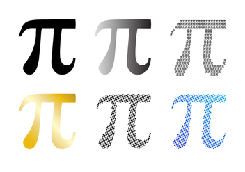 Pi Symbol Vector Set - бесплатный vector #428267