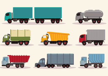 Work Trucks Vector - vector #428287 gratis