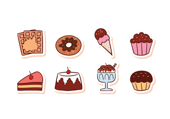 Free Dessert Food Icon Set - бесплатный vector #428327
