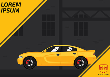 Dodge Charger Template Free Vector - vector #428437 gratis