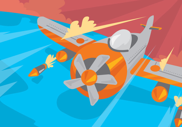 World War II Kamikaze Plane Vector - Free vector #428487