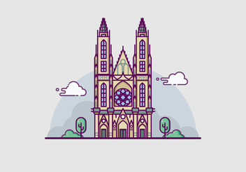 Prague Landmark Illustration - Free vector #428517