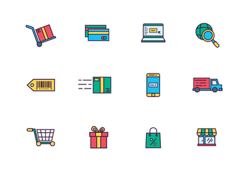 E-Commerce Icons - vector #428617 gratis