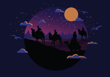 Moody Nighttime Epiphany Vector - Kostenloses vector #428667