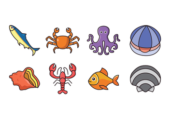 Free Seafood Icons - Free vector #428687