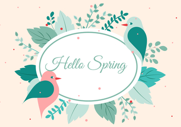 Free Vector Spring Greetings - Free vector #428697