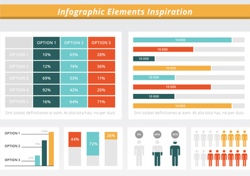 Free Flat Infographic Vector Elements - Kostenloses vector #428707
