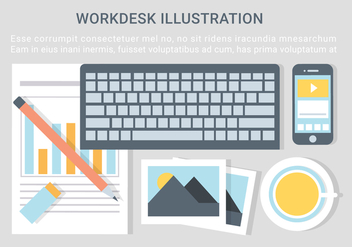 Free Vector Designer Desktop Illustration - Free vector #428717