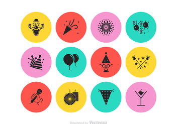 Free Party Vector Icon Set - Free vector #428727