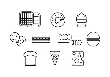 Free Food Line Icons Vector - бесплатный vector #428867