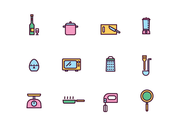 Cooking Tools Icons - vector #428887 gratis