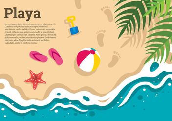 Playa Top View Template Free Vector - бесплатный vector #428917