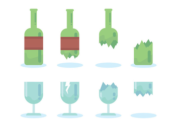 Breaking Bottle Vector - vector #429007 gratis