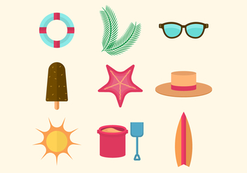 Free Flat Beach Icons - Kostenloses vector #429017