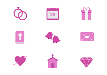 Free Wedding Icons - vector gratuit #429057