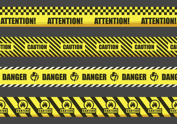 Warning tapes illustration - Free vector #429067