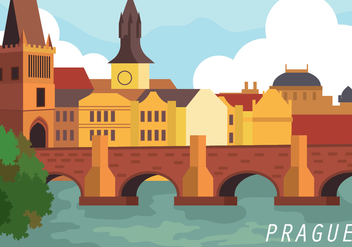 Prague Vector Illustration - vector gratuit #429137