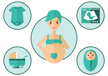 Maternity Vector Icon - vector #429257 gratis
