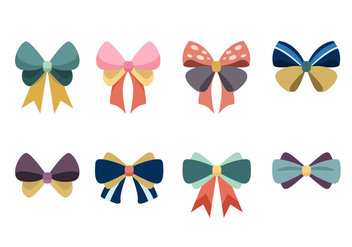 Cute Hair Ribbon Vector Pack - vector #429287 gratis