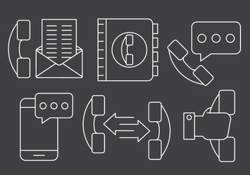 Free Linear Phone Management Icons - Free vector #429357