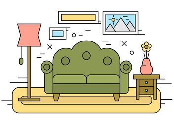 Free Living Room Illustration - vector gratuit #429397