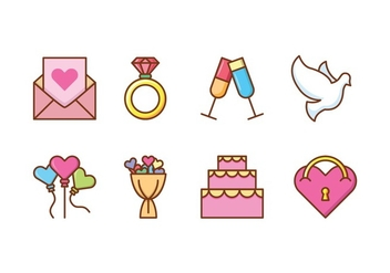 Wedding Icon Pack - Kostenloses vector #429407