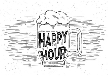 Free Hand Drawn Vector Beer - Free vector #429477