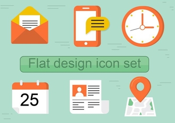 Free Flat Vector Icon Set - Kostenloses vector #429487