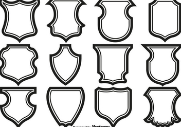 Shield Frames Icons Vector Set. - Free vector #429507