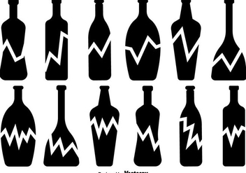 Broken Bottle Vector Icons Set - Free vector #429527