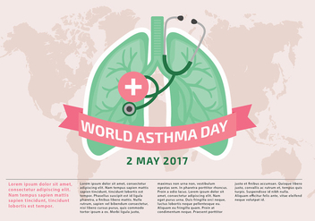 World Asthma Day Template Vector - Free vector #429557