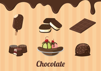 Chocolate Product Free Vector - vector gratuit #429577