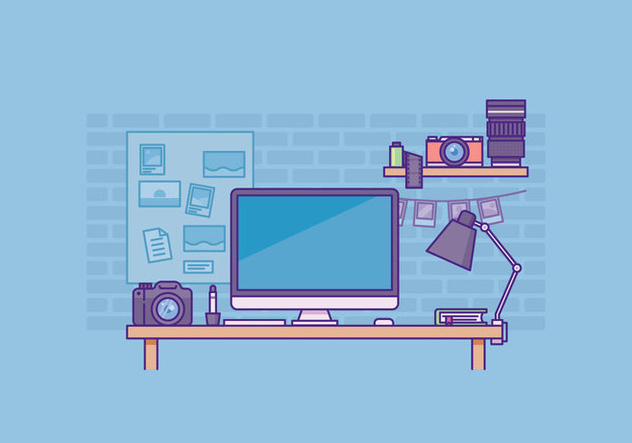 Free Photographer Workspace Illustration - vector #429627 gratis